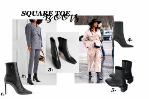 Syystrendit 2019: Square toe boots